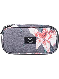 Roxy Take Me Away Estuche Escolar, Mujer, Rosa/Gris (Charcoal Heather Flower