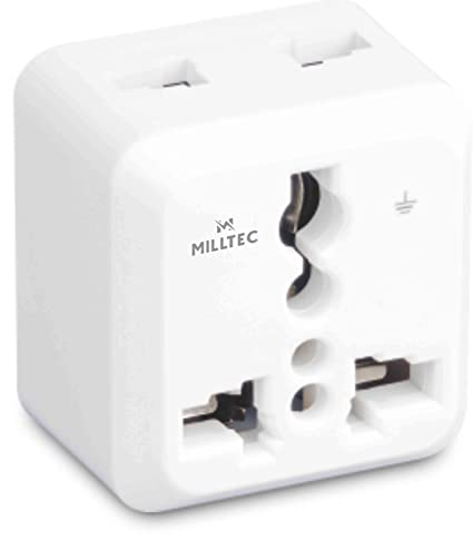 Milltec 3 Pin Universal Travel Plug (White) Power Accessories at amazon