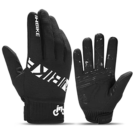 INBIKE MTB BMX ATV Mountain Bike Bicycle Cycling Gloves Men Black