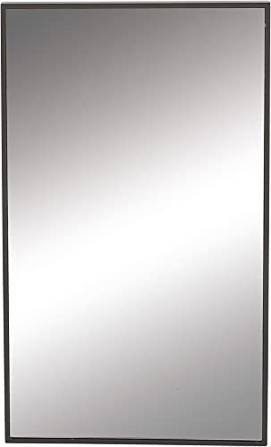 Benzara Antique Colonial Stylish Wood Rectangle Wall Mirror, 32 x 18 , Black, Reflective