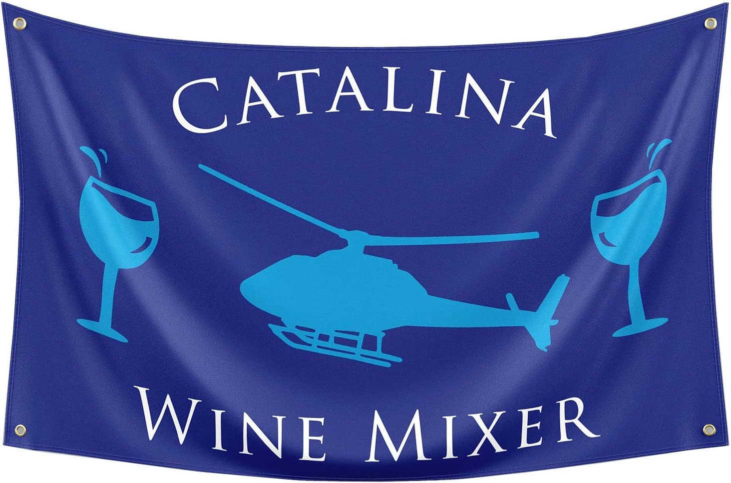 Probsin Catalina Wine Mixer Flag,3x5 Feet Banner,Funny Poster UV Resistance Fading & Durable Man Cave Wall Flag with Brass Grommets for College Dorm Room Decor,Outdoor,Parties,Gift,Tailgates