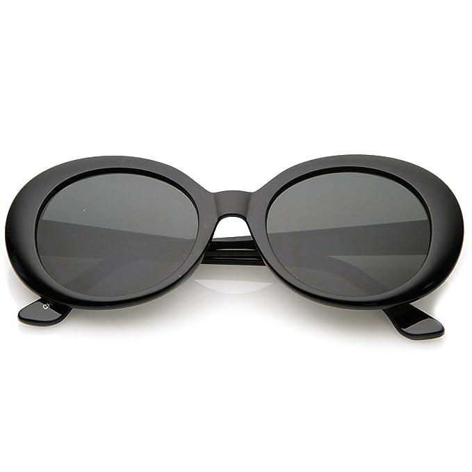 Amazon.com: sunglassla – Retro Oval anteojos de sol brazos ...