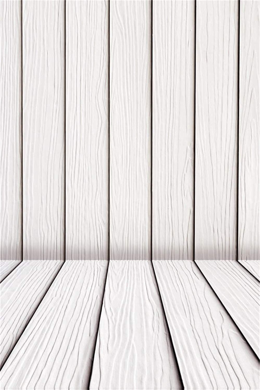 6x8ft Plain Modern Vertical Striped Wooden Wall Floor Background Polyester White Wooden Board Backdrop Child Adult Pets Artistic Portrait Shoot Studio Props