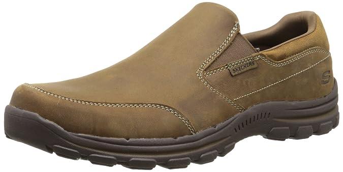 Skechers Braver- Linares, Sneakers Basses Homme, Marron (Desert Dsch), 45