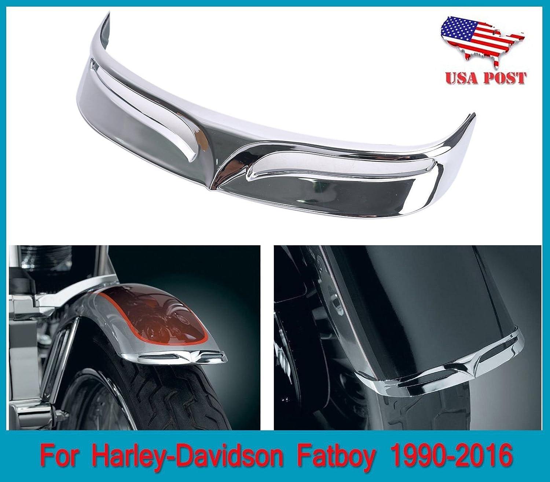 Chrome Plated Rusty Free Rear Fender Tip fits Harley-Davidson FLSTF Fat Boy 2007 2008 2009 2010 2011 2012 2013 2014 2015 2016 2017 BOXWELOVE