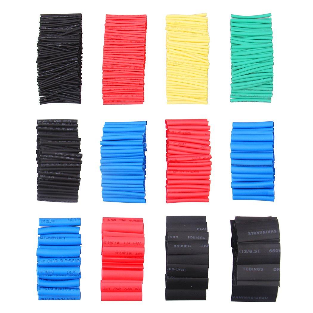 Tubo Termorretr/áctil 750 Piezas,Preciva 2 1 Poliolefina Tubo Termoretr/áctil Envoltura de Alambre 5 Color 12 Tama/ño para Protecci/ón el cable,Prevenir la corrosi/ón del metal,etc