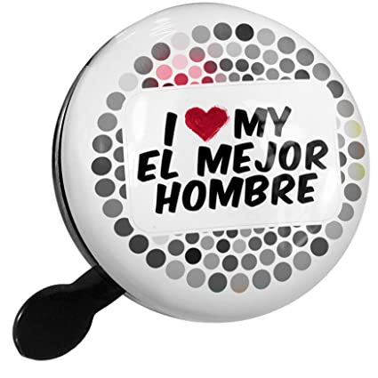 Amazon.com : NEONBLOND Bike Bell I Heart Love My El Mejor ...