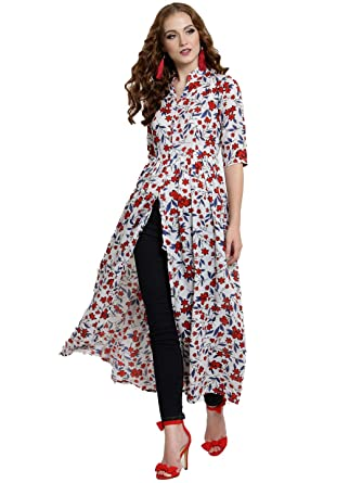 09eaba565d3 SERA Floral Printed Maxi Top: Amazon.in: Clothing & Accessories