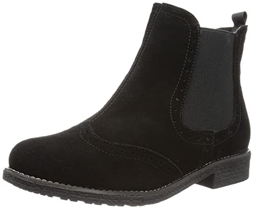 Andrea Conti 0616555 - Botines chelsea de cuero mujer, color negro, talla 42: Amazon.es: Zapatos y complementos