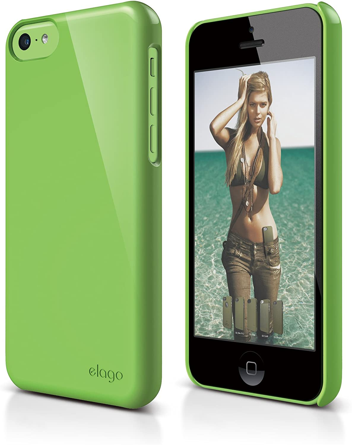 elago S5C Slim Fit 2 Case for iPhone 5C - eco Friendly Retail Packaging (Green)