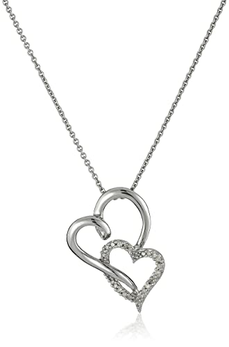 pendant webstore gold rose samuel number d set heart double h diamond product