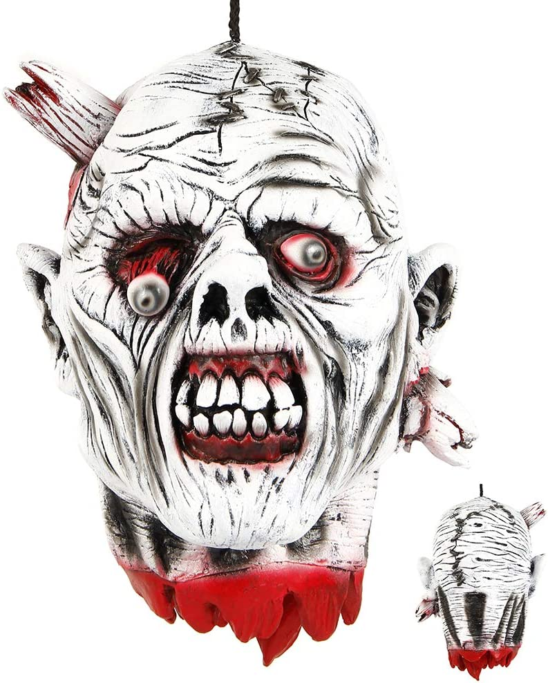 SEVERED HEAD LATEX LIFE SIZE HALLOWEEN PROP DECORATION BLOODY FANCY DRESS