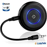Cubetek 2 in 1 Bluetooth V4.1 Transmitter & Receiver, wireless 3.5mm adapter, for TV, PC, iPod, PSP, Playstation, Car Stereo, Support aptX Low Latency, Connect 2 devices at once, designed for Home & Car Audio System. Model: CB-BTI-018