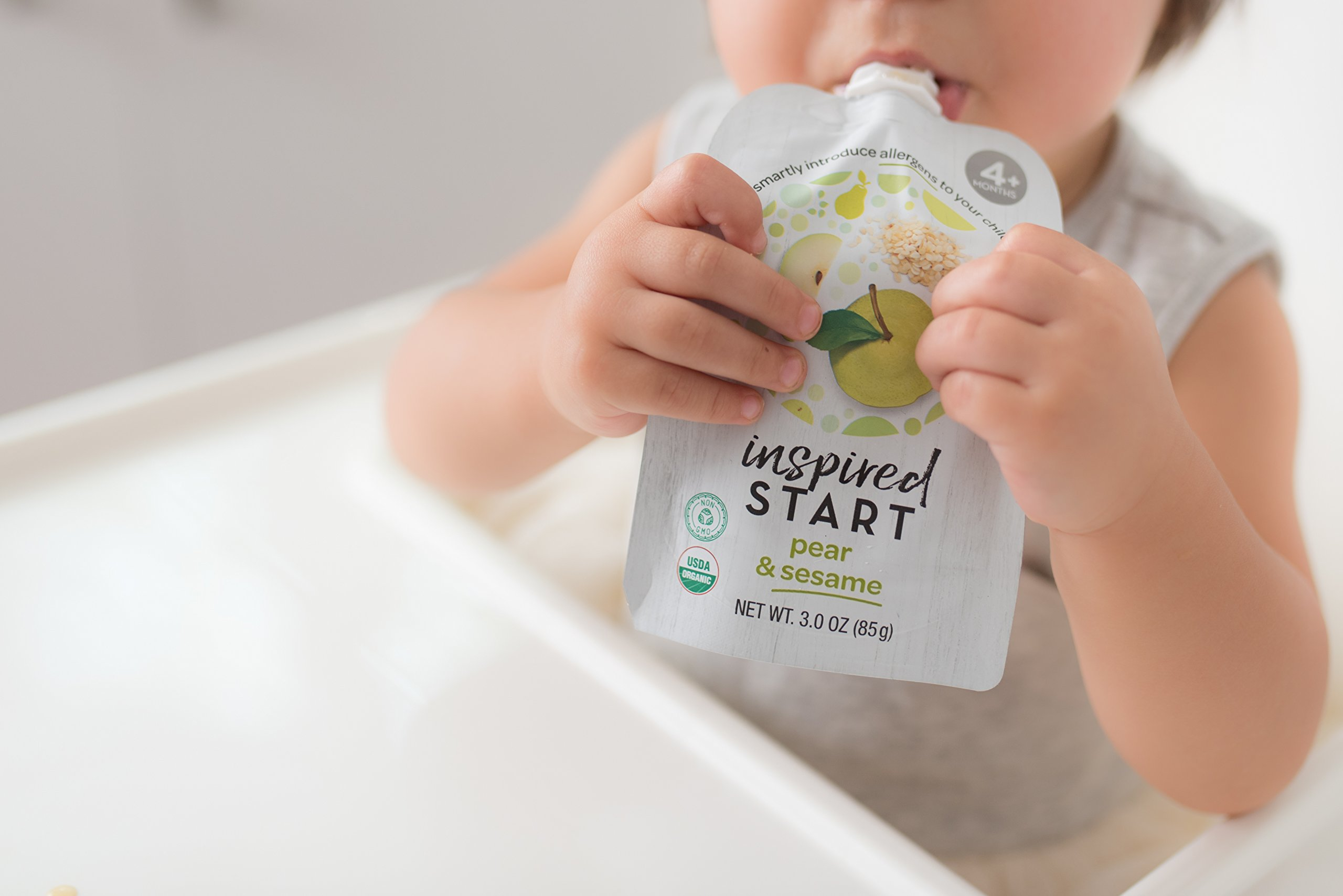 Early Allergen Introduction Baby Food: Inspired Start Pack 2, 3 oz. (Pack of 8 baby food pouches) - Non-GMO, include wheat, sesame, shrimp and cod in baby's diet by Inspired Start (Image #6)