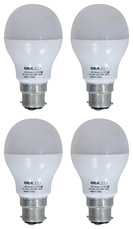 ORA 9W B22 LED Bulb (Pack of 4, Cool White) Image