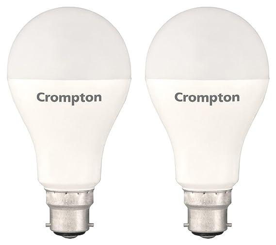Crompton B22 18-Watt LED Bulb (Pack of 2, Cool Day Light)