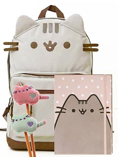Good Pusheen The Cat Back To School Set   Pusheen Cat Face Backpack, Pusheen  Polka Dot