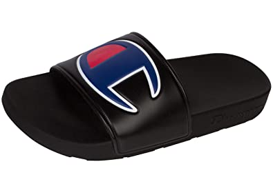 7c6b41b81 Image Unavailable. Image not available for. Color: Champion Unisex Ipo  Slide Jr. Sandal (3 M US, Black ...