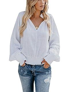 Amazon.com: SUUKSESS Blusas de campesina con mangas largas y ...