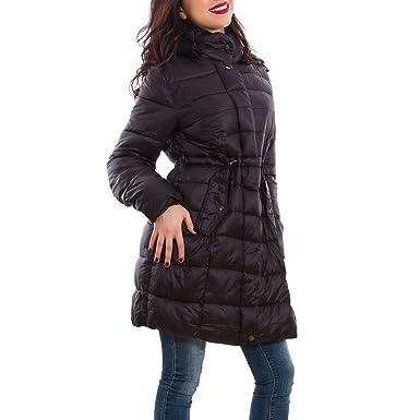 Piumino donna giaccone trench imbottito cappuccio taglie