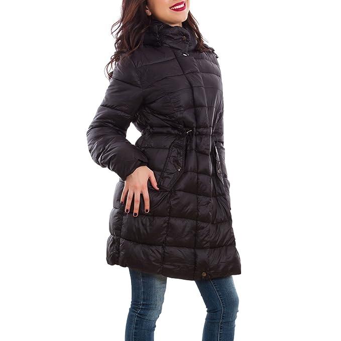 Toocool - Piumino donna giaccone trench imbottito cappuccio taglie curvy  nuovo Z-1705  46 2e9115e5413