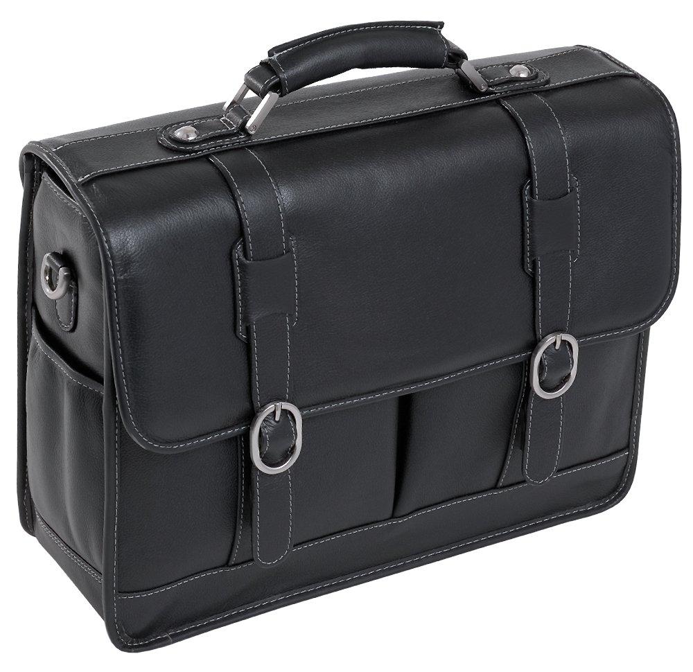 McKleinUSA BEVERLY 15445 Black Leather Laptop Case