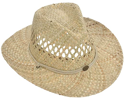 18311e72bec Livingston Men   Women s Woven Straw Cowboy Hat w Hat Band Décor