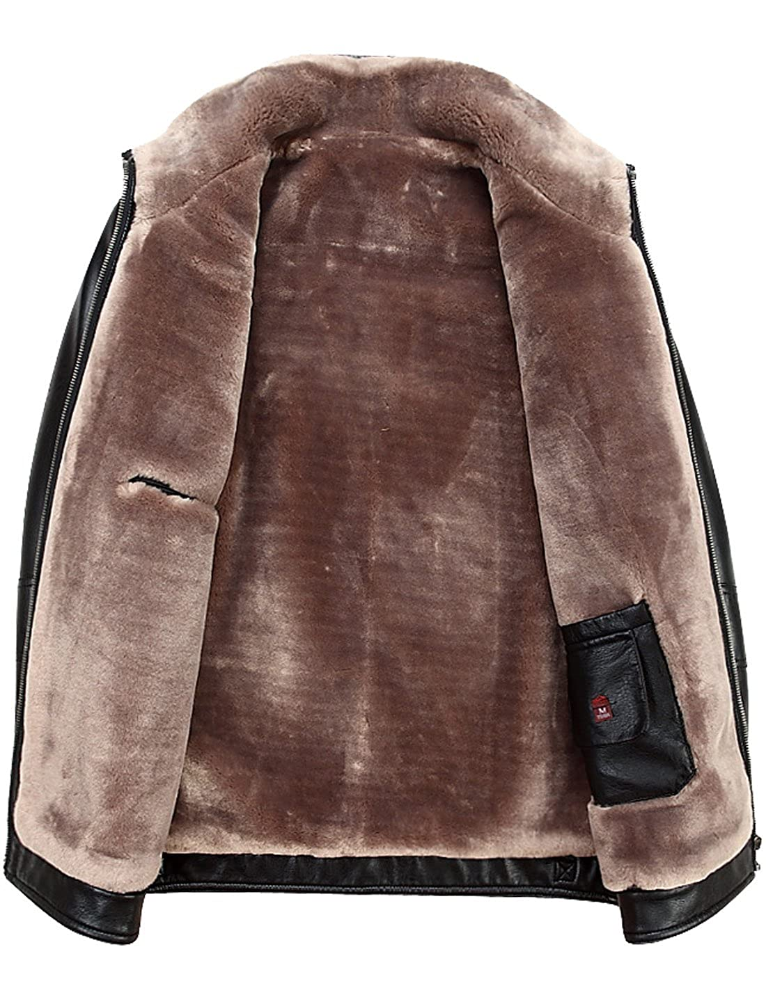 0427ba1f4f4 Tanming Men s Winter Warm Leather Coat Real Fur Hooded Leather Jacket  Tanming-100414 larger image