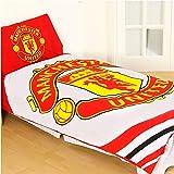 Manchester United 'pulse' Reversible Single Duvet Quilt Cover Set