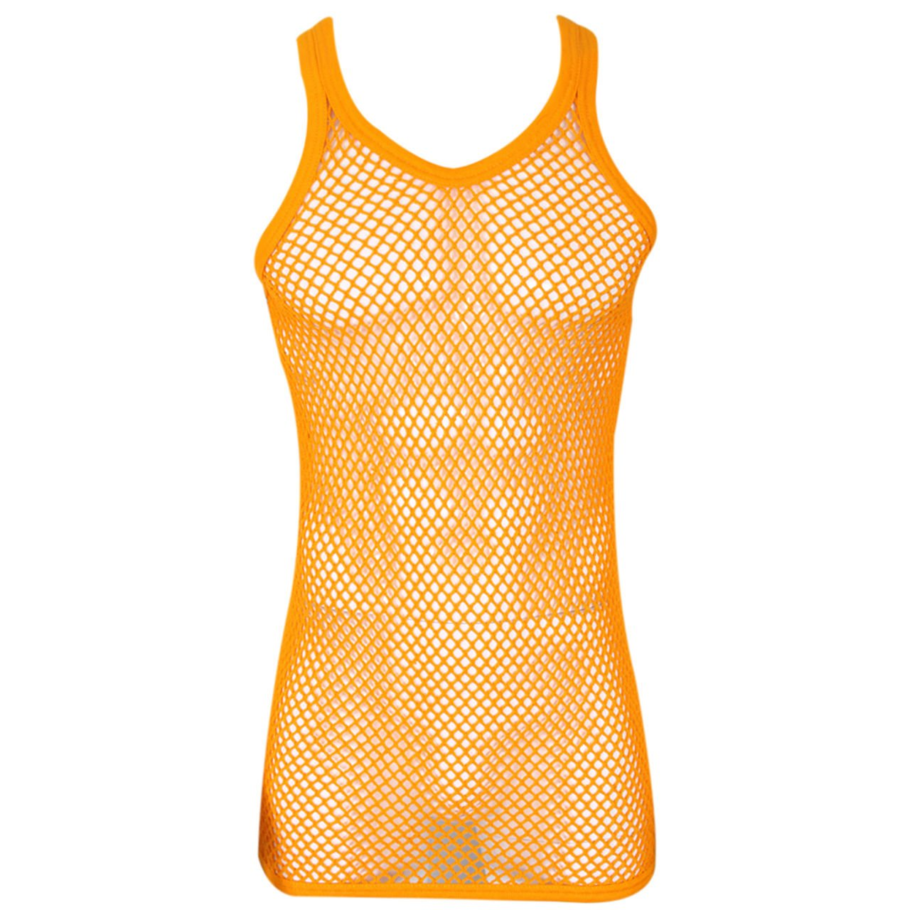 UD Accessories Mens 100/% Cotton Fitted Muscle Fishnet String Vest Tank Top in Black