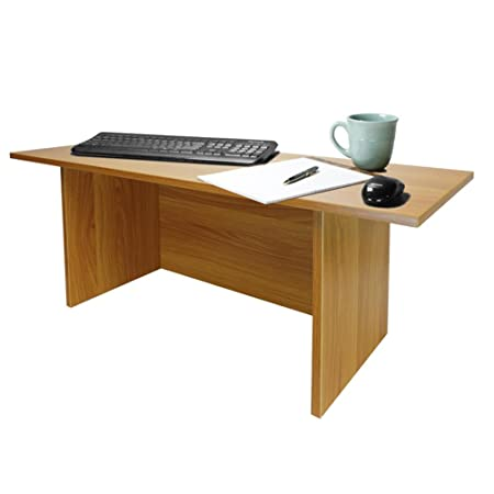 Miracle Desk Stand Up Desk – Convert a Regular Desk to Standing with Ease – Perfect for executives, professionals, teachers, and home offices Light Cherry, Tall