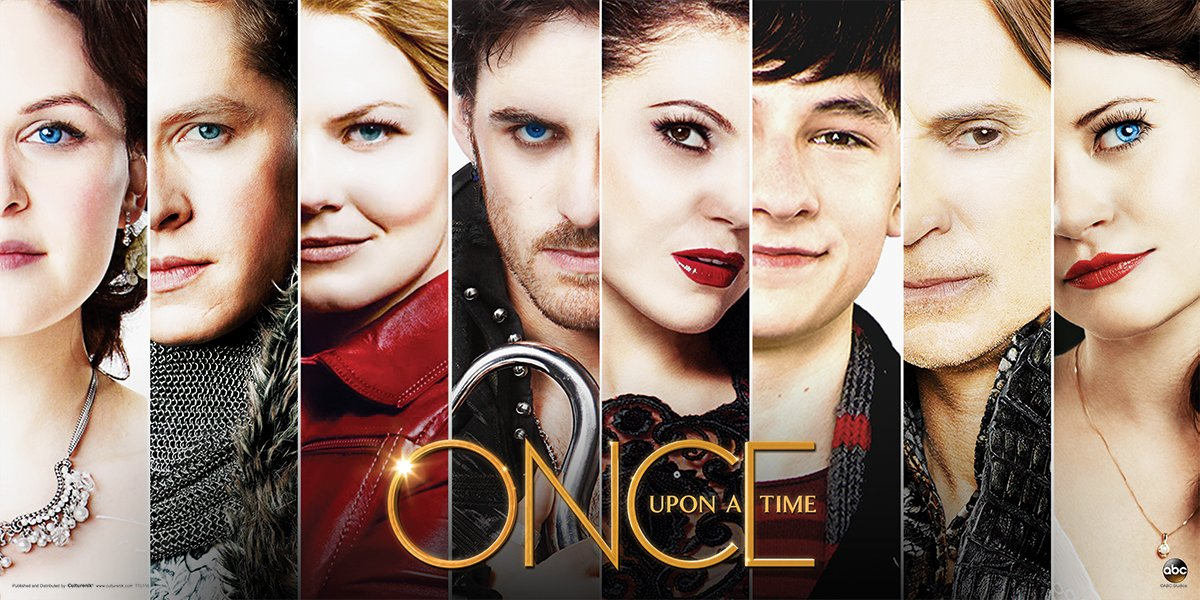 Once Upon a Time Main Cast Faces Close Up Fantasy Drama