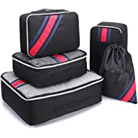 Luggage Cubes, Aicehome Travel Luggage Organizer Packing Cubes with Oxford Material Quality Zippers Tear-Proof Decorative Strips