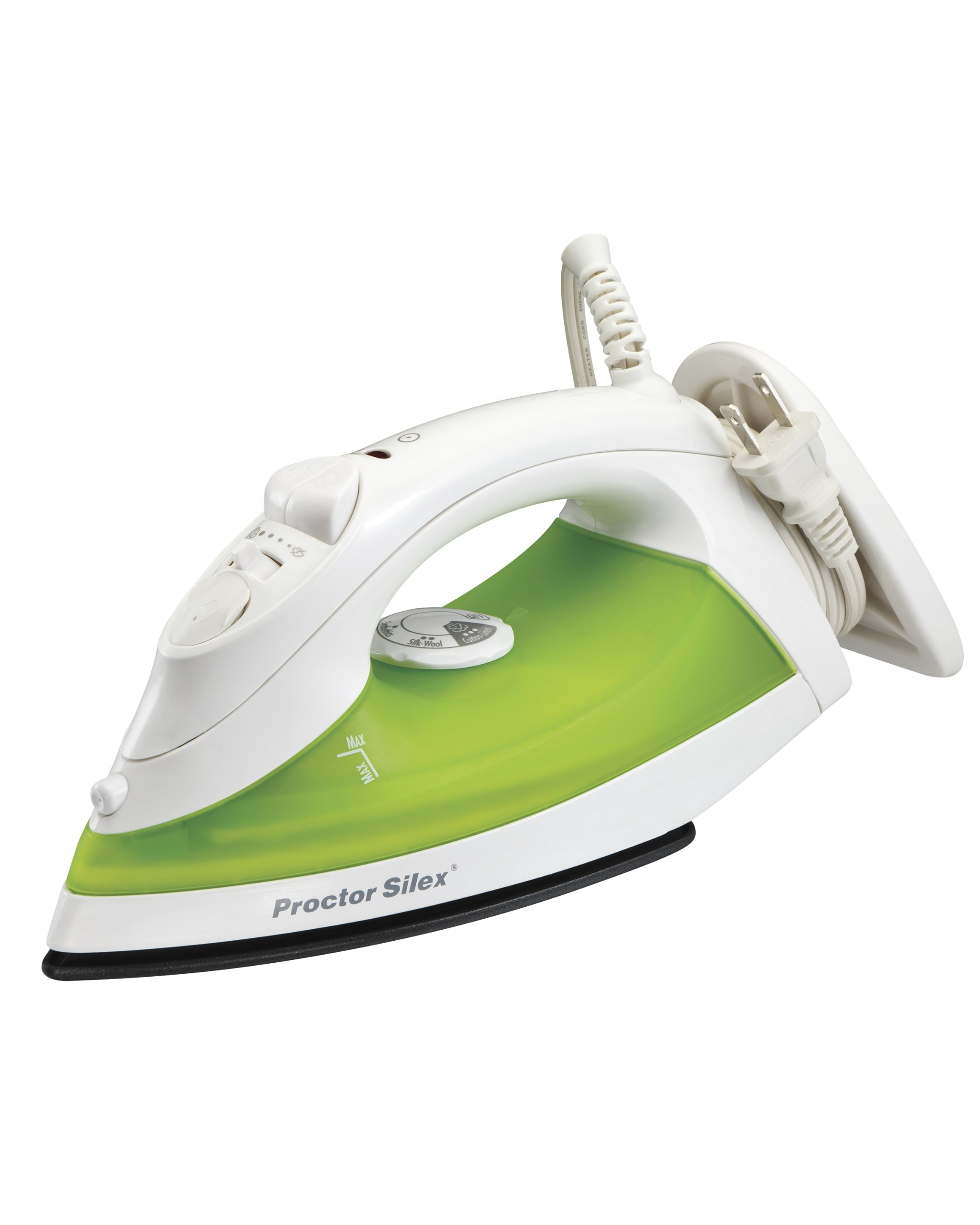 Proctor Silex Steam Iron with Cord Wrap & Nonstick Soleplate (17175)