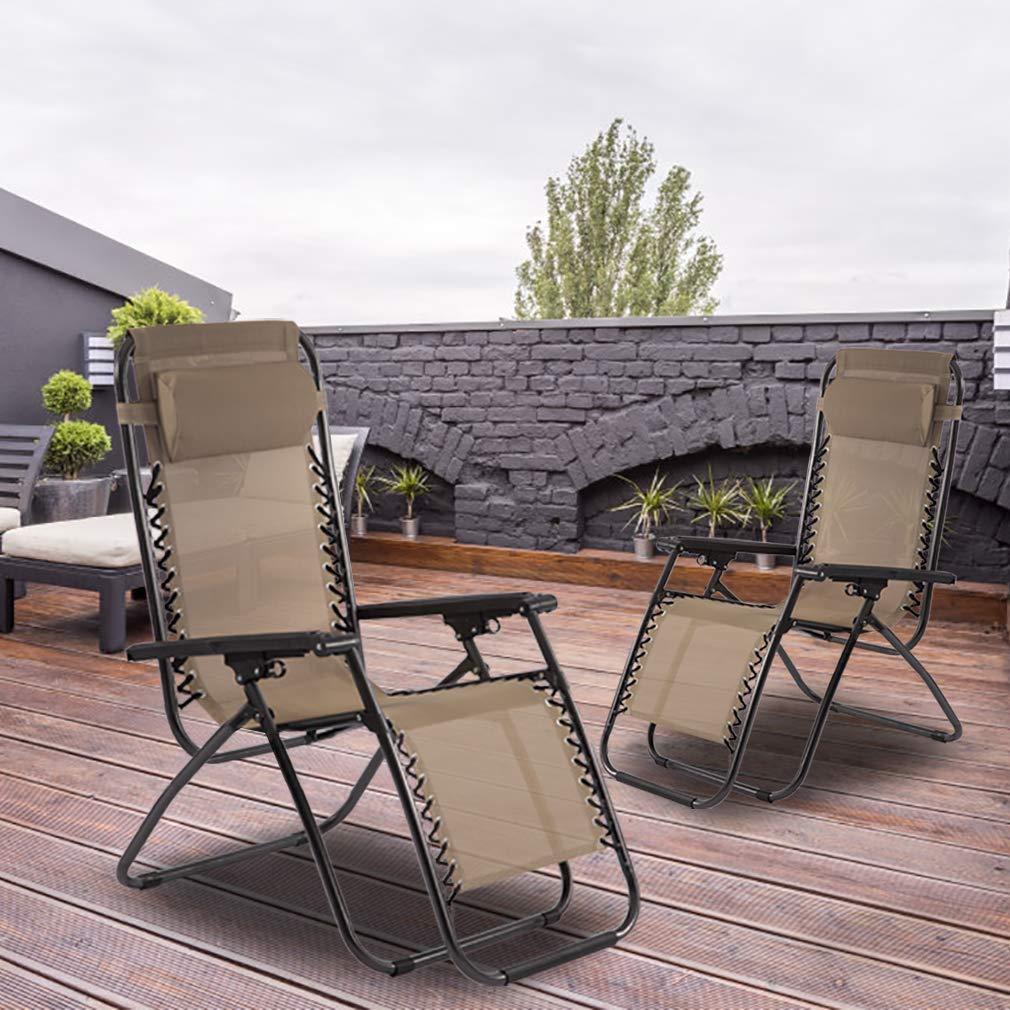 Amazon.com: Silla de gravedad cero, silla de salón ajustable ...