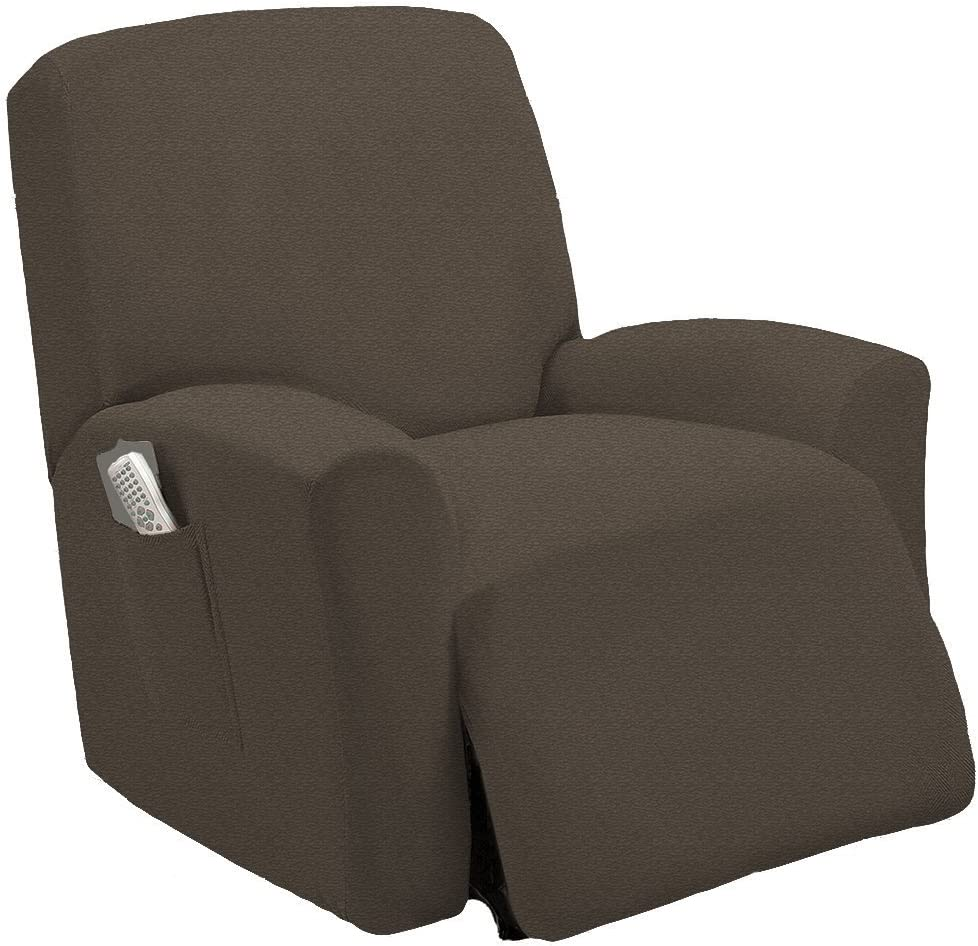 Sage Elegant Home Used Like New or Open Package One Piece Stretch Sterling Recliner Chair Cover Furniture Slipcovers with Remote Pocket Fit Most Recliner Chairs # Stella Open Package