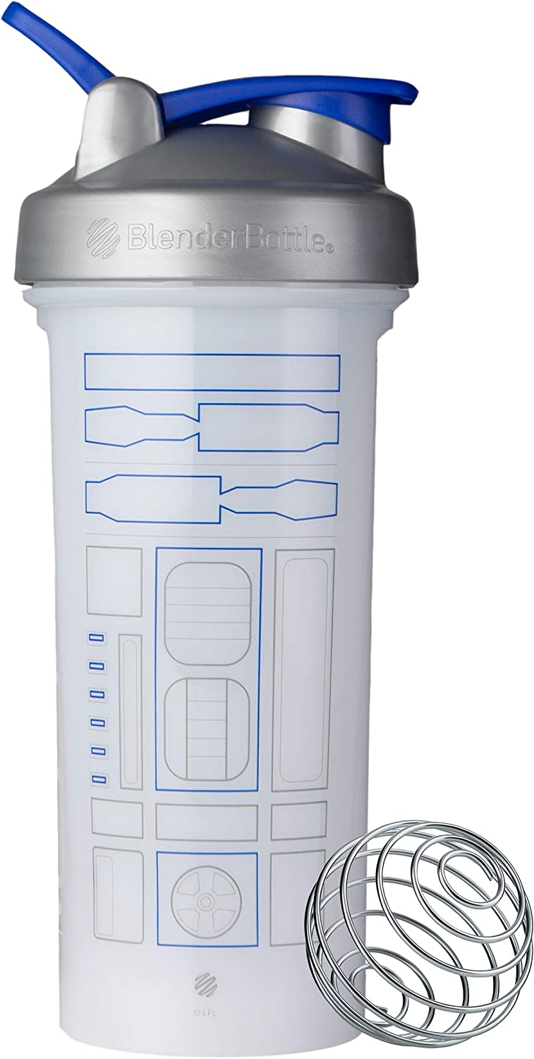 BlenderBottle C04349 Star Wars Pro Series 28-Ounce Shaker Bottle, R2D2