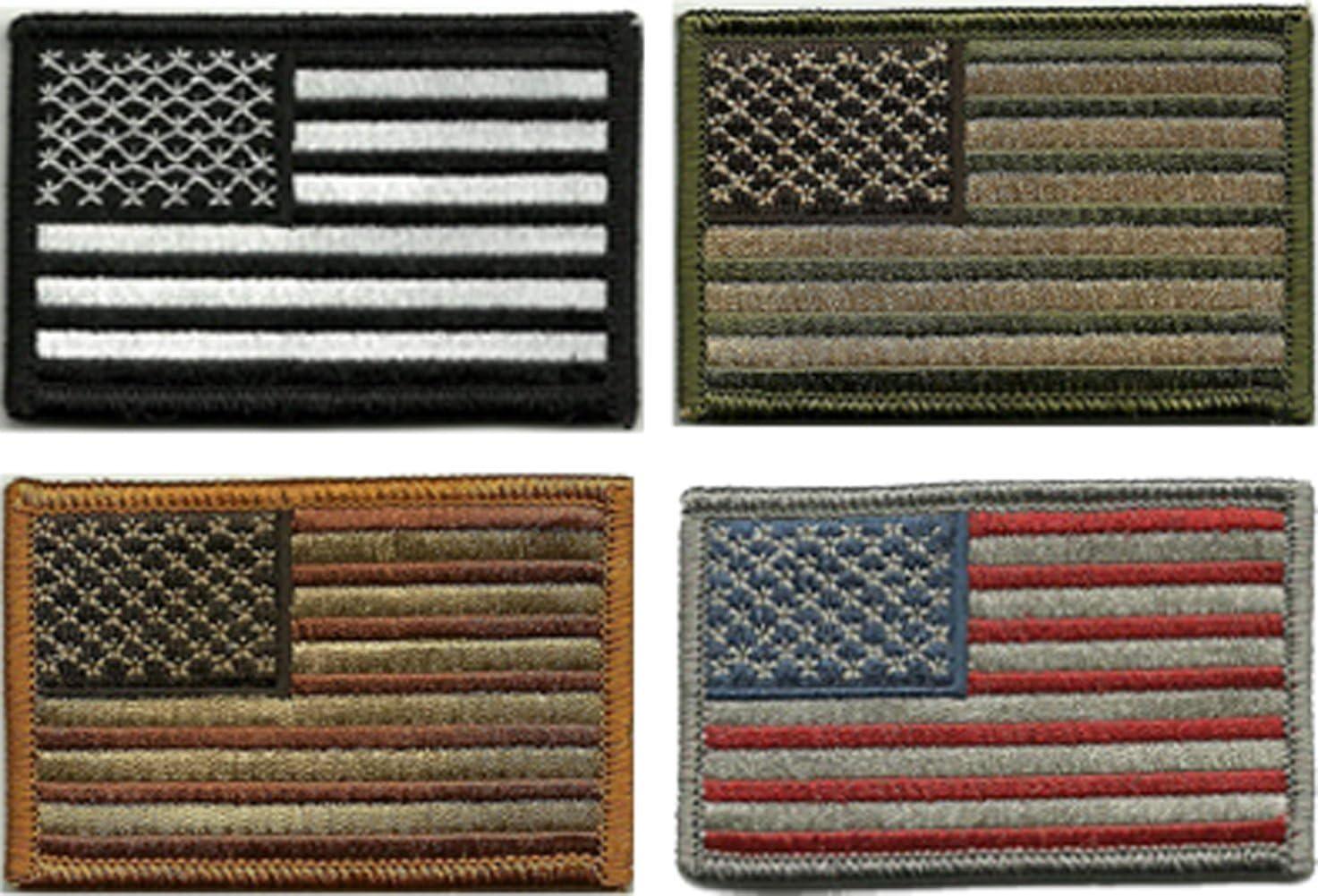 Nos Paquete 4 piezas – cuatro táctica bandera de Estados Unidos parches parche de Estados Unidos: Amarillo/Blanco/Negro/Gris: Amazon.es: Juguetes y juegos