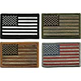 Prohouse Bundle  - Tactical USA Flag Patches - Multi-colored by TMTC Tactical Gear Four American Flag Patches, Black/Green/Brown/Red, 4 Piece