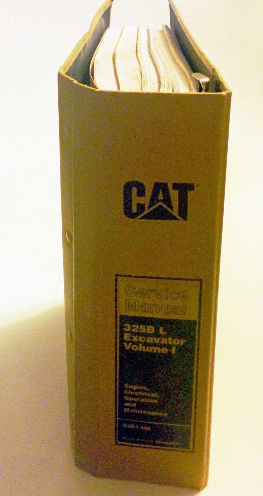 cat service manual 325b l excavator volume 1 engine, electrical, operation  and maintenance 2jr1 - up loose leaf – unabridged, 2007