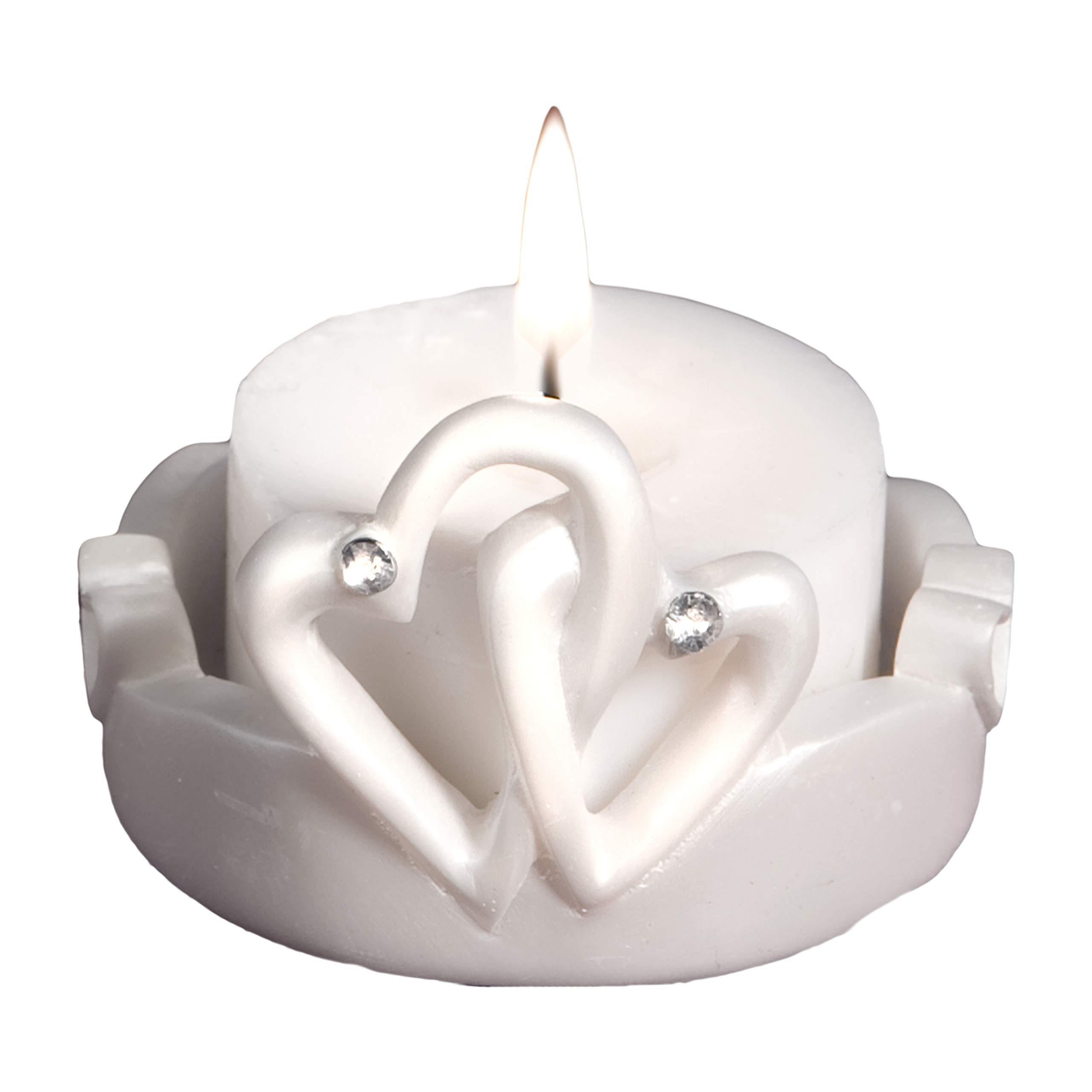 Candle Wedding Favors: Interlocking Hearts, 30