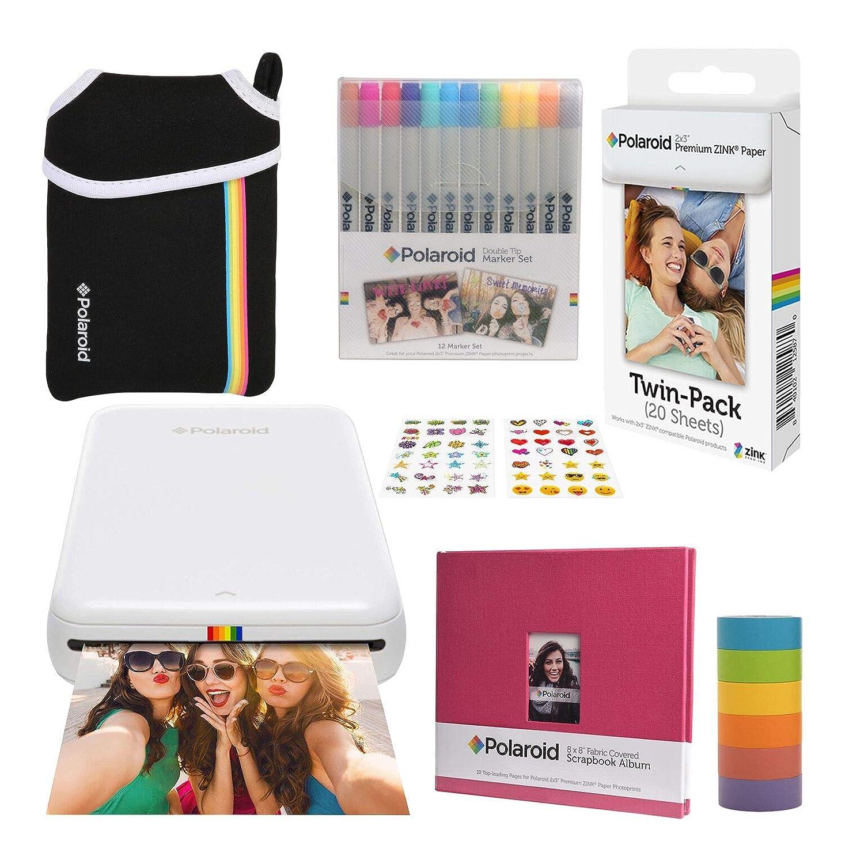 Polaroid Zip Impresora de Fotos Inalámbrica (Blanco) Paquete de ...