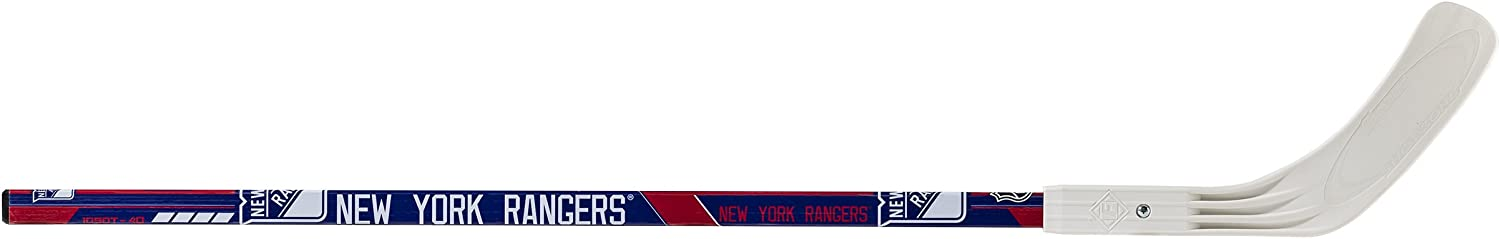 """Franklin Sports New York Rangers Street Hockey Stick - 40"""" 2-Piece Wood Stick w/Blade - Left Shot - Ball Hockey - NHL Official Licensed Product : Sports & Outdoors"""