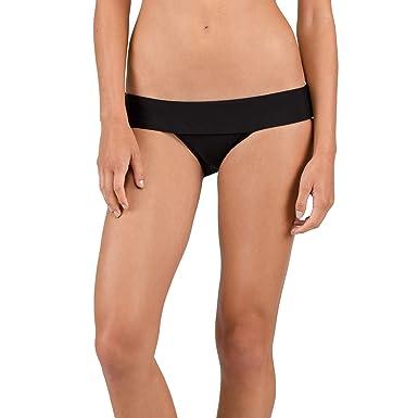56974032800c Volcom Junior's Women's Simply Solid Modest Bikini Bottom, Black, Extra  Small