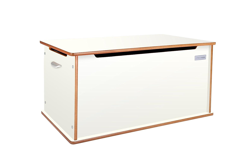 Little Helper RoomTidy gran baúl de almacenaje blanco/natural 90x 46x 43, 5cm NB/TTY01-6FR