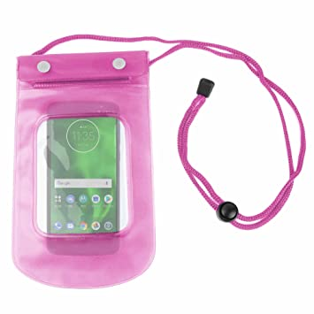 DURAGADGET Funda Impermeable Rosa para Smartphone Motorola Moto G6 ...