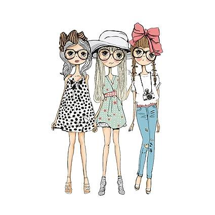 Hergon - Parches para niñas para ropa de niños, pegatinas de bricolaje, parche de