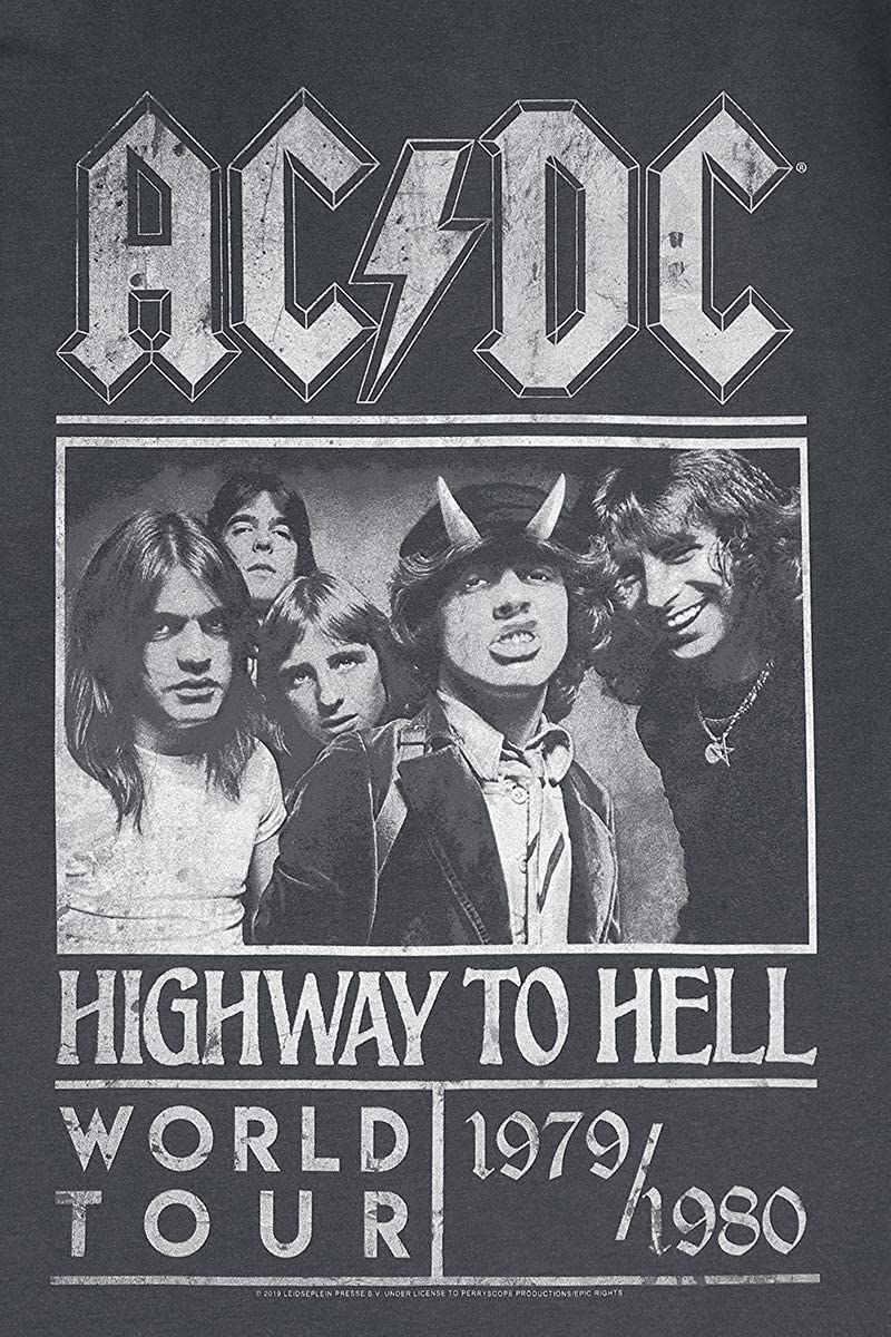 Amplified AC//DC High Way to hell noir Haut sans manches Unisexe