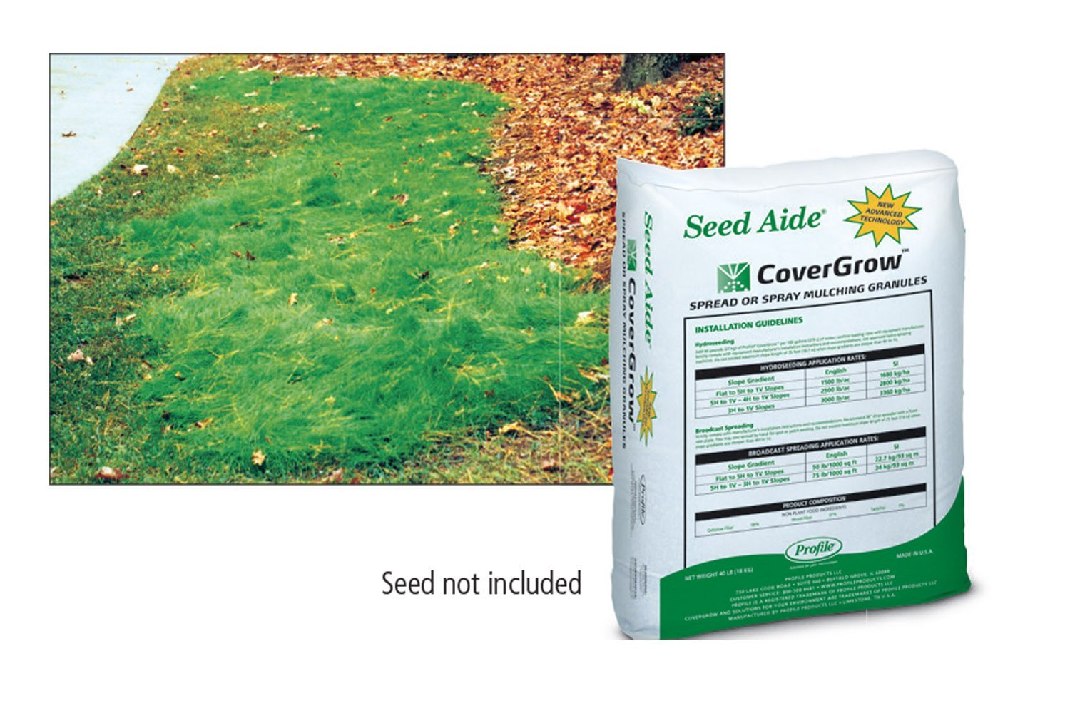 Seed Aide - Cover Grow, Water Retaining Seed Starting Mulch (40 LBS) by Nature's Seed