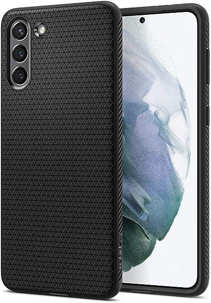 Spigen Liquid Air Hülle Kompatibel Mit Samsung Galaxy S21 Schwarz Elektronik
